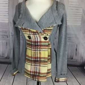 Anthropologie Covent Garden Sweater Jacket Plaid S